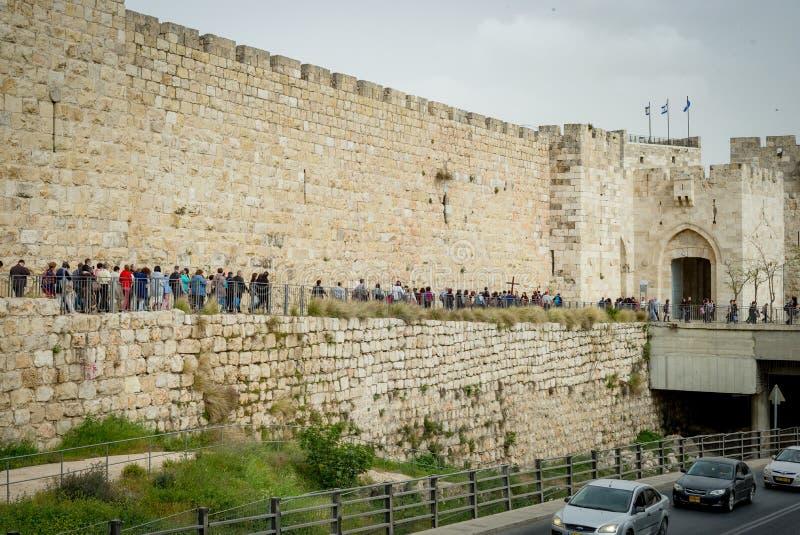 耶路撒冷全景屋顶视图 免版税库存照片