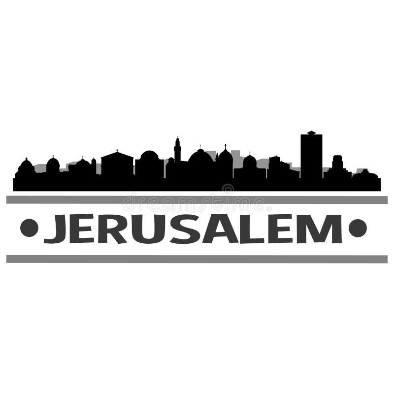 耶路撒冷地平线城市象传染媒介艺术设计 向量例证