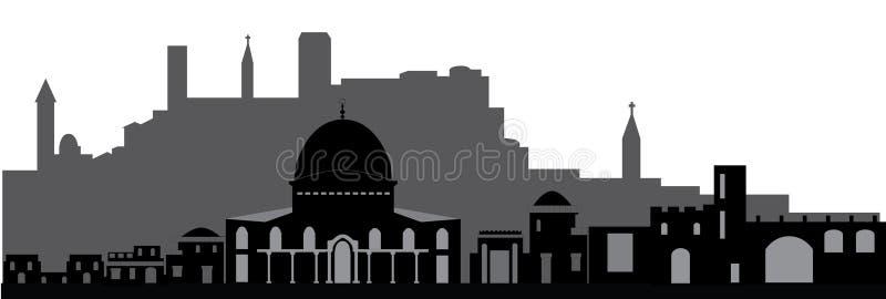 耶路撒冷地平线 向量例证