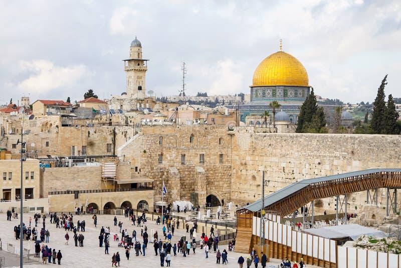 耶路撒冷寺庙在以色列 免版税库存图片