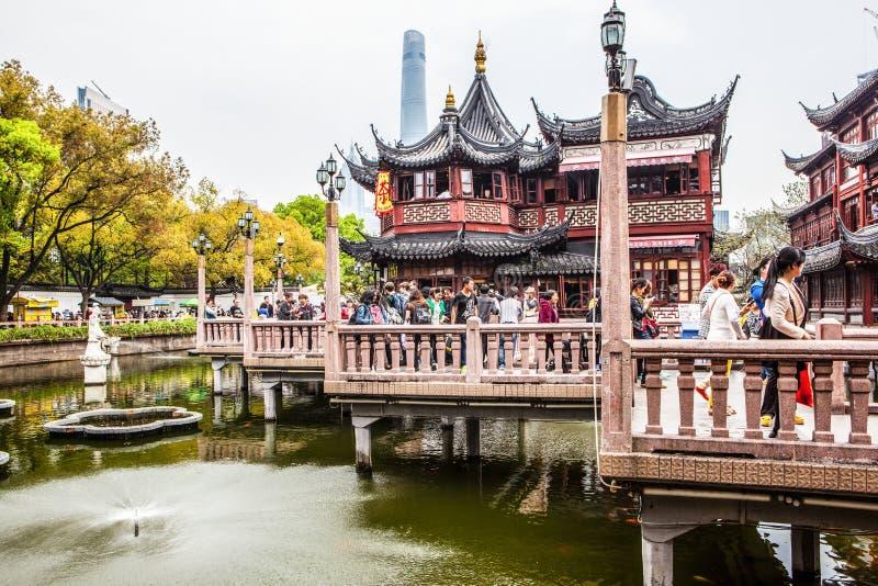 耶路撒冷旧城上帝的寺庙和yuyuan公园在上海, 库存照片