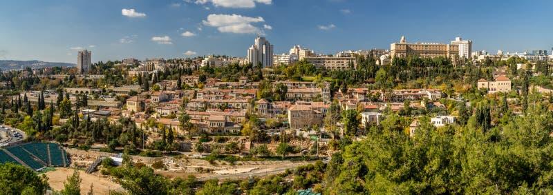 耶路撒冷看法从耶路撒冷旧城,以色列的墙壁的 库存照片