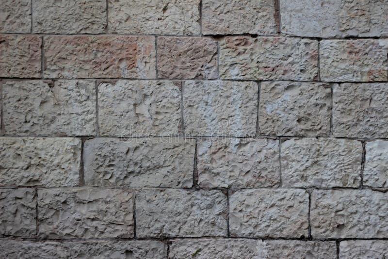 耶路撒冷石头纹理米黄块老墙壁  免版税库存照片