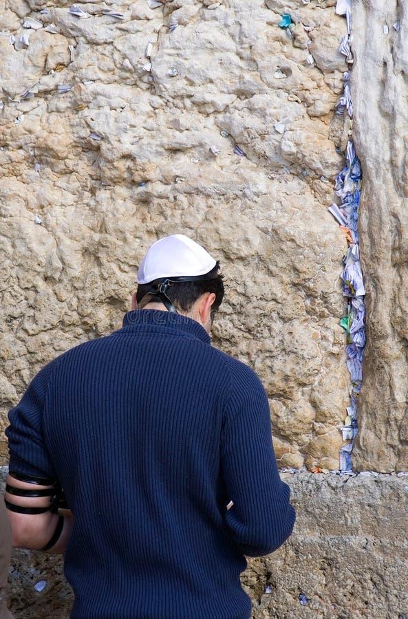 耶路撒冷祷告 库存照片