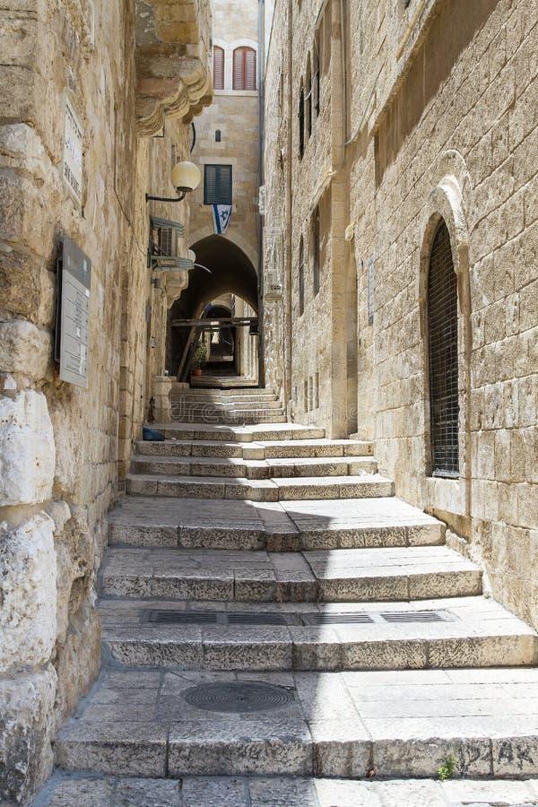 耶路撒冷耶路撒冷旧城胡同Sreet  以色列 库存照片