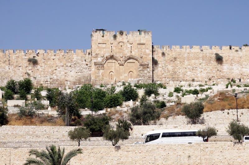 耶路撒冷金门  免版税库存照片