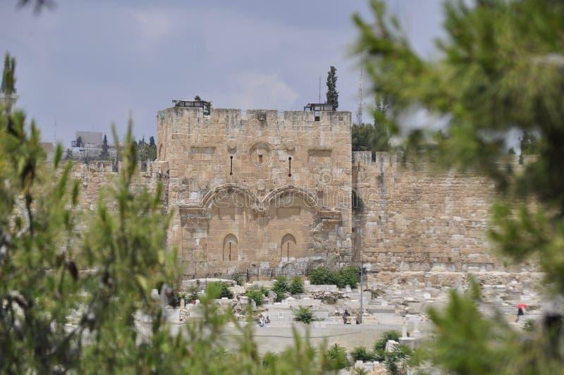 耶路撒冷,金门 图库摄影