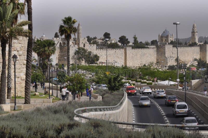 耶路撒冷,贾法角街 免版税库存图片