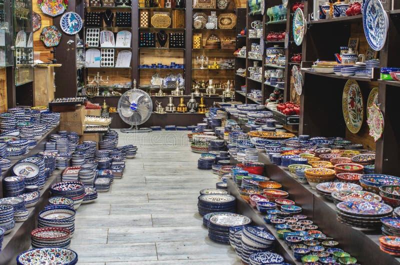 耶路撒冷 一点商店在老镇 库存照片