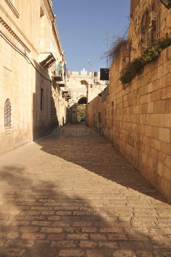 耶路撒冷-老镇秋天 图库摄影