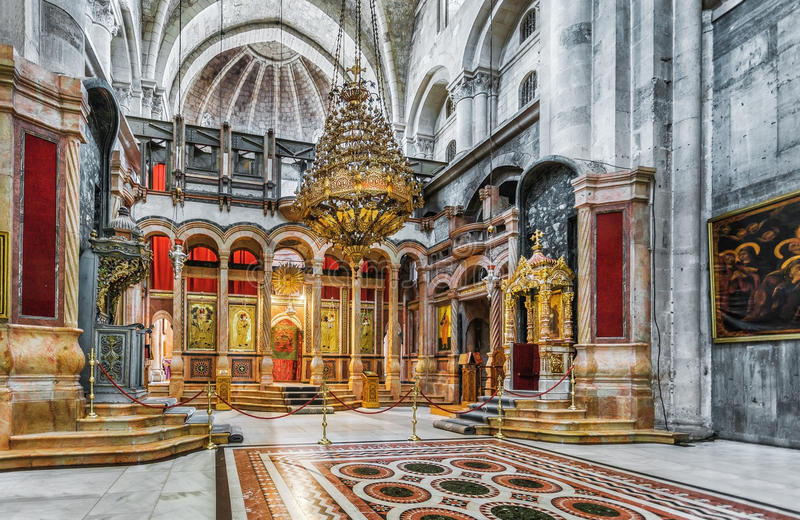 耶路撒冷 以色列 圣洁坟墓教会-复活的教会 免版税库存图片