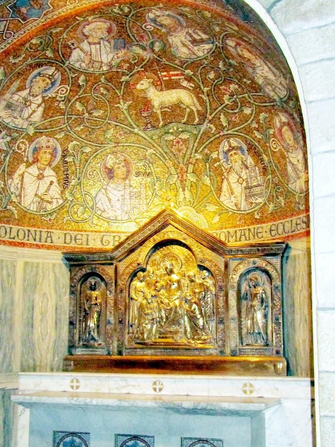 耶路撒冷Dormition修道院教堂科隆2012年 免版税图库摄影