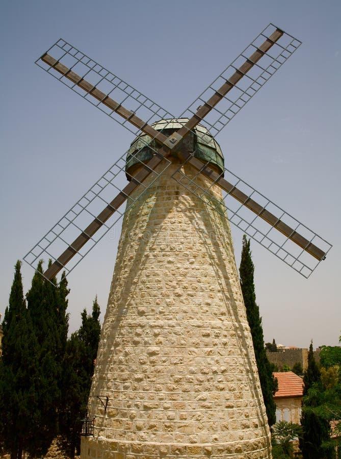 耶路撒冷montefiore风车 库存照片