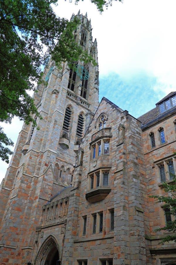 耶鲁大学教会纽黑文 库存照片