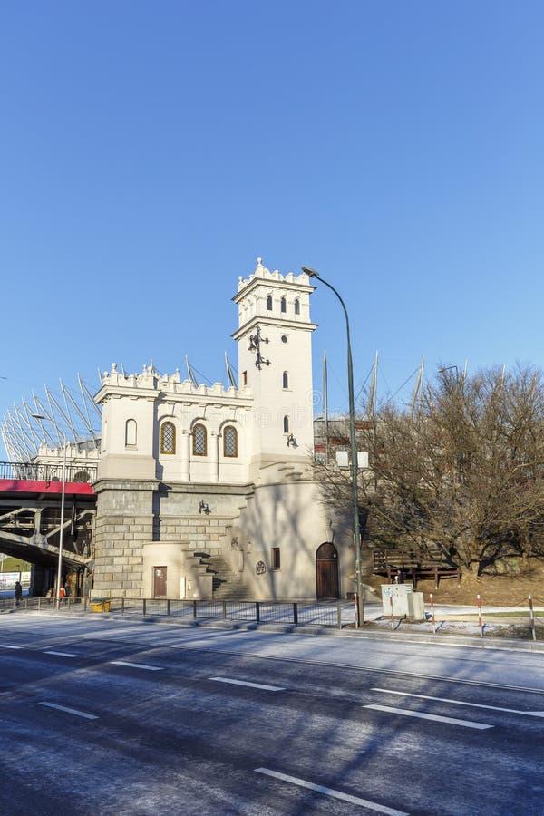 耸立和楼梯到Poniatowski桥梁 免版税库存图片