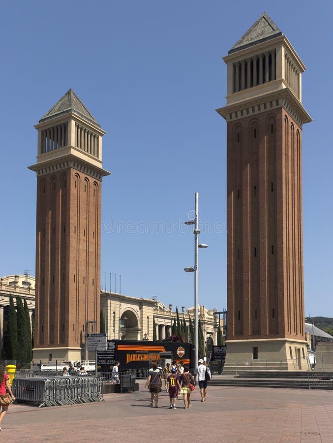 耸立威尼斯式 免版税库存图片