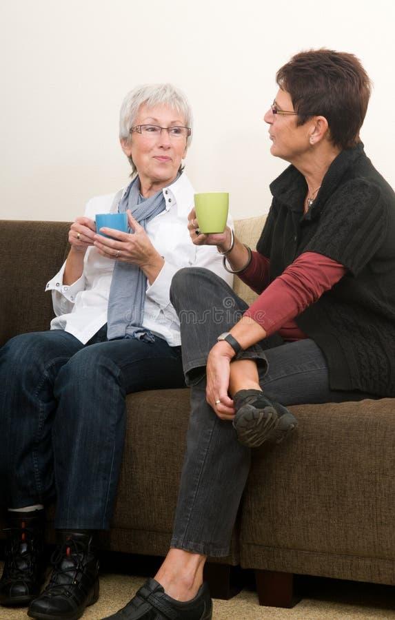 聊天咖啡 免版税库存图片