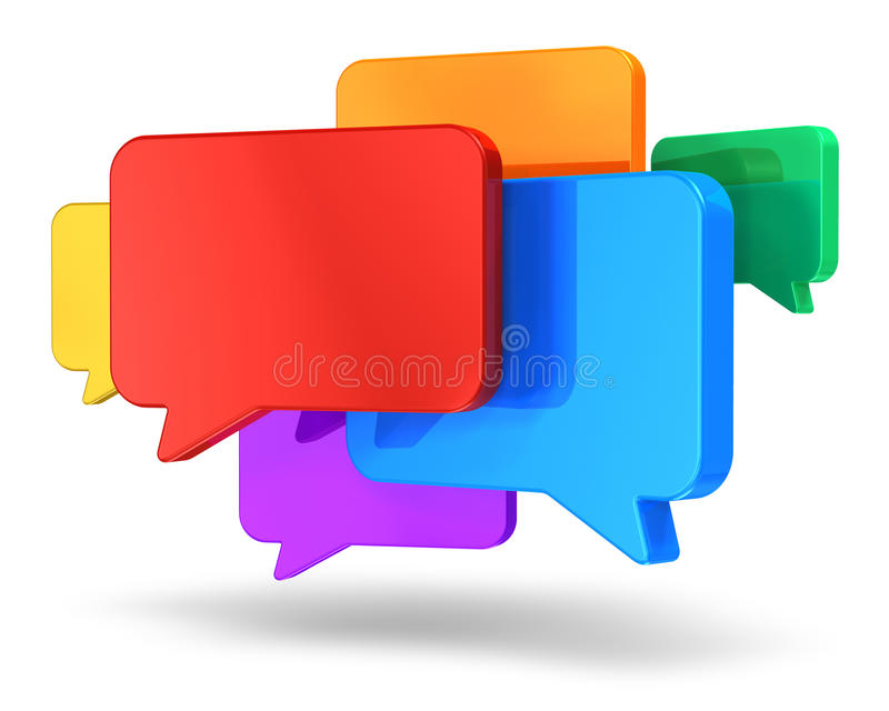 聊天概念网络连接社交 库存例证