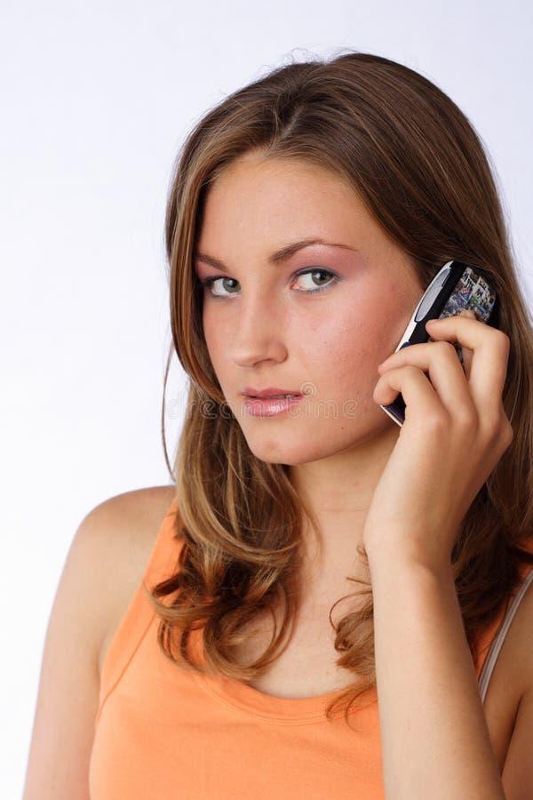 聊天的电话 免版税库存照片