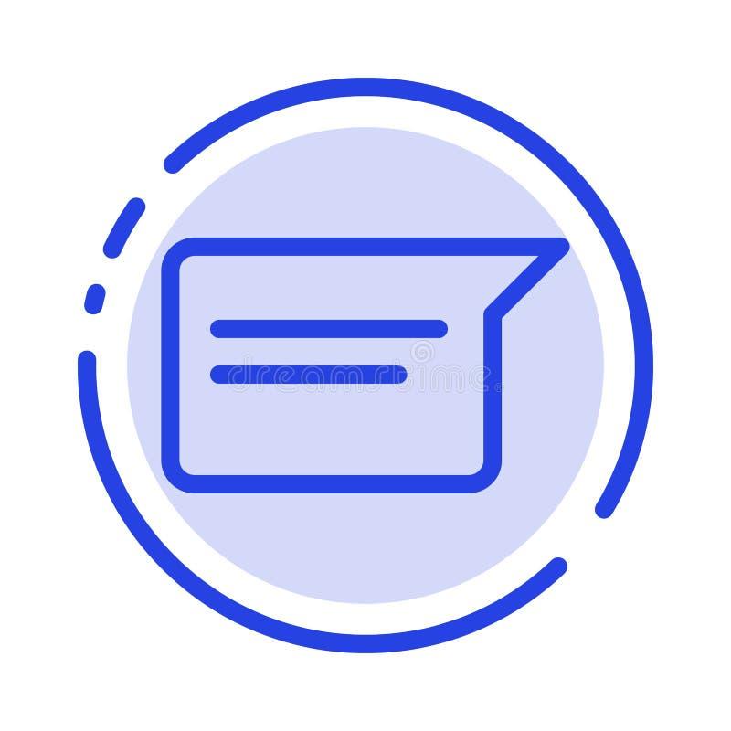 聊天,基本,聊天,用户界面蓝点线图标 皇族释放例证