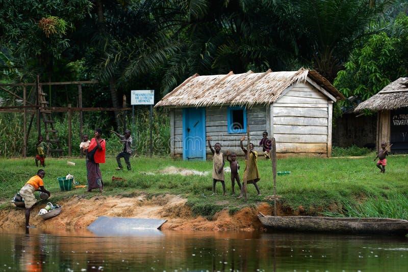 聋小的村庄 图库摄影