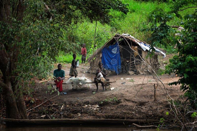 聋小的村庄 免版税图库摄影