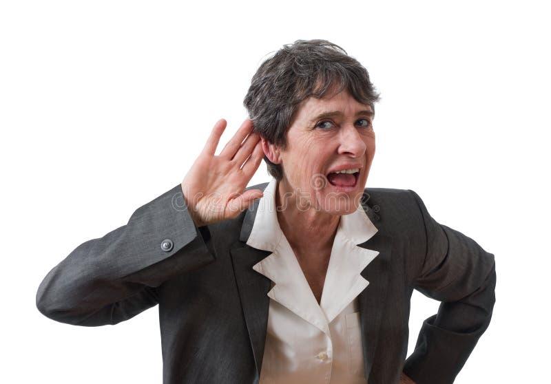 聋的女实业家 图库摄影
