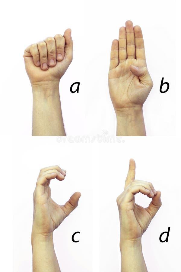 聋的字母表 库存照片