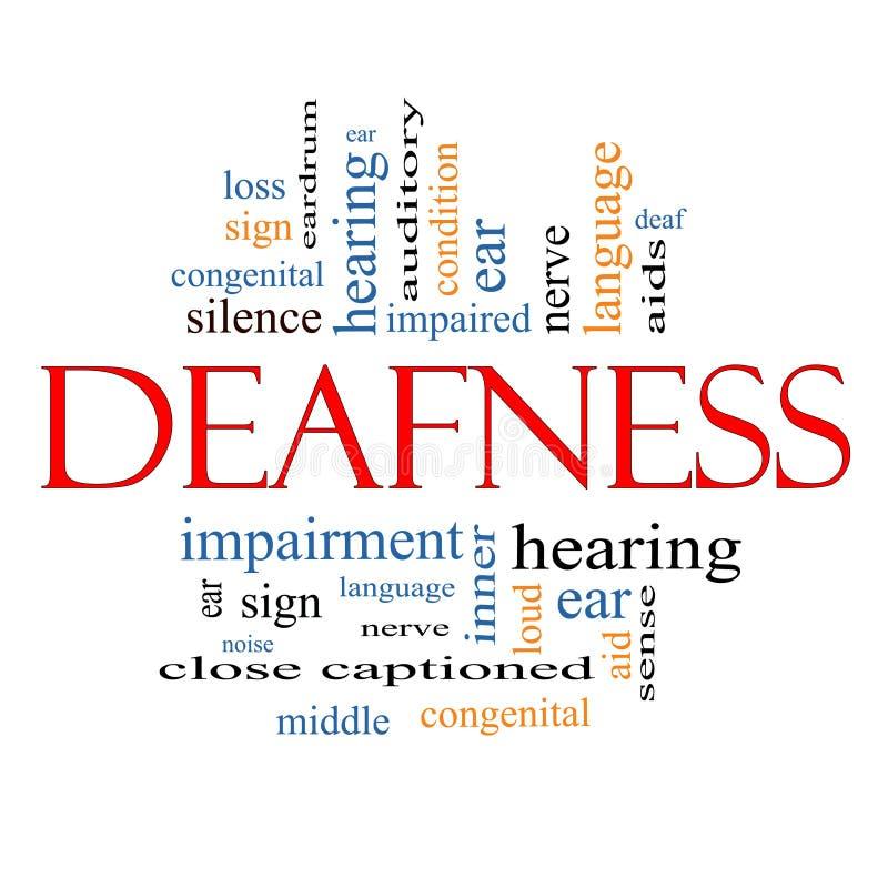 聋词云彩概念 向量例证