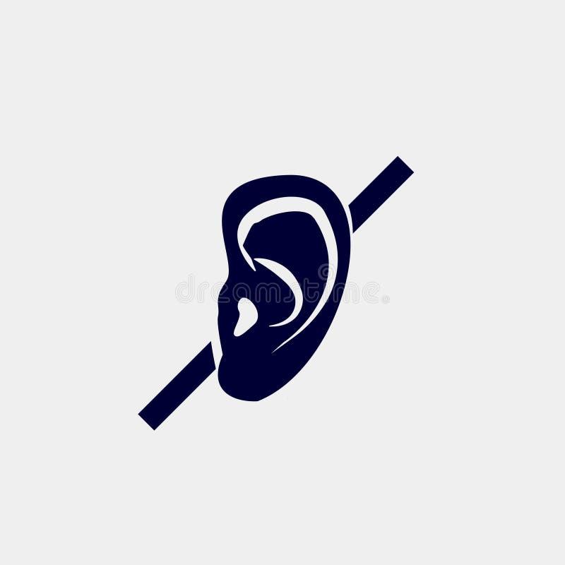 聋 库存例证