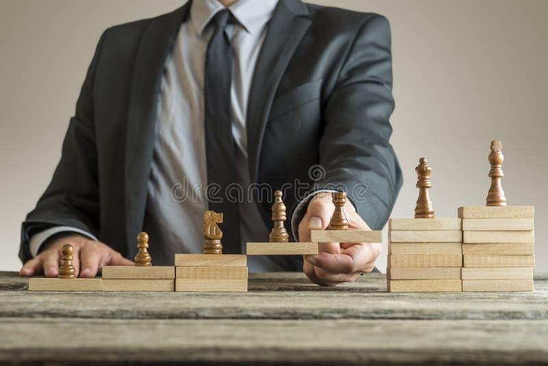 职业发展管理的概念性图象 免版税库存图片