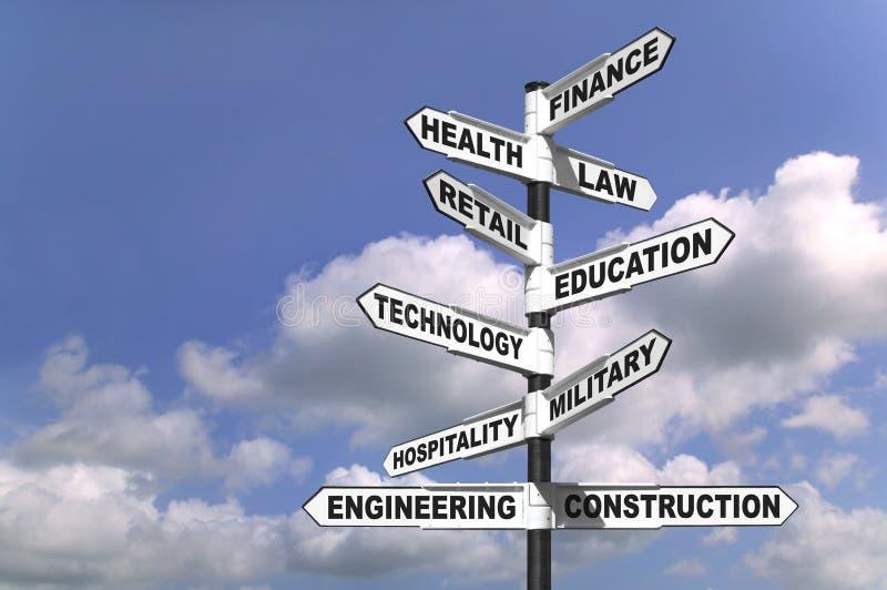 职业发展途径十 免版税库存照片