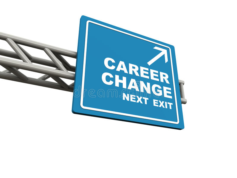 职业变化 库存例证