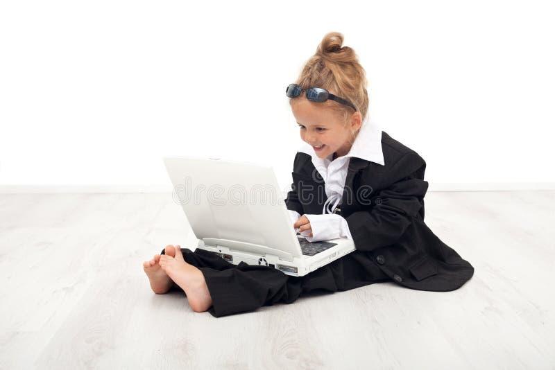 职业女孩少许使用的角色妇女 免版税图库摄影
