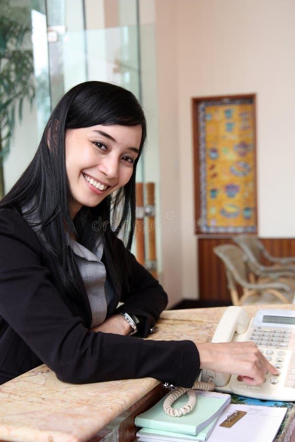 职业妇女工作 免版税库存照片