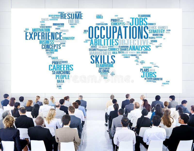 职业工作事业专门技术人力资源概念 免版税库存图片