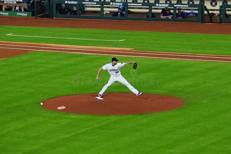 职业棒球投手 免版税图库摄影