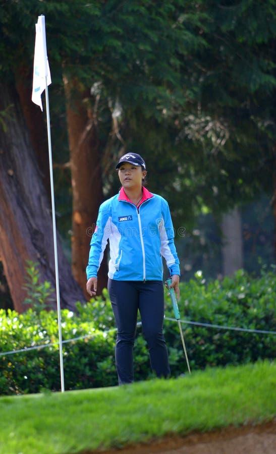 职业高尔夫球运动员丽迪雅Ko毕马威妇女的PGA冠军2016年 库存照片