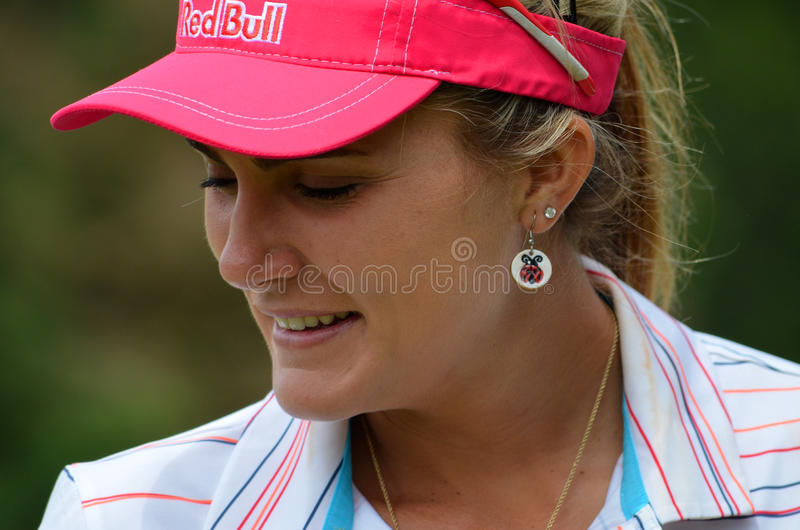 职业高尔夫球运动员乐喜汤普森毕马威妇女的PGA冠军2016年 图库摄影