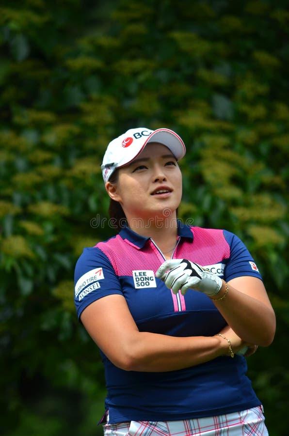 职业高尔夫球运动员Ha Na Jang毕马威妇女的PGA冠军2016年 免版税库存照片