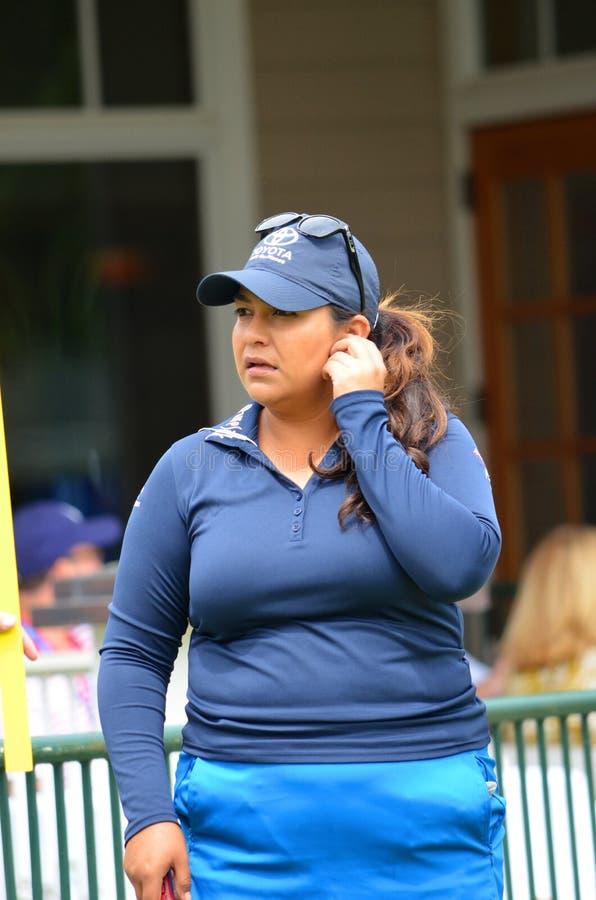职业高尔夫球运动员Lizette萨拉斯毕马威妇女的PGA冠军2016年 免版税库存图片