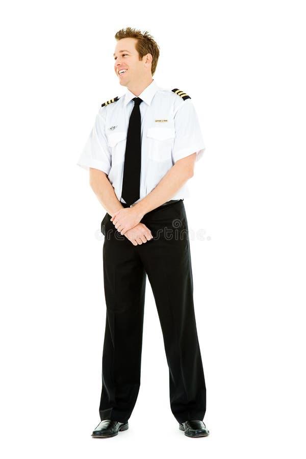 职业:飞行员看支持 免版税库存图片