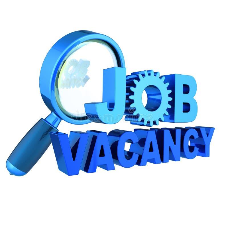 职位空缺文本蓝色失业横幅概念 向量例证