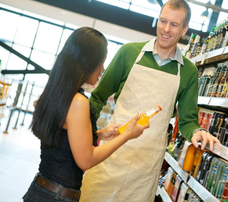 职员副食品有用的存储 免版税库存照片