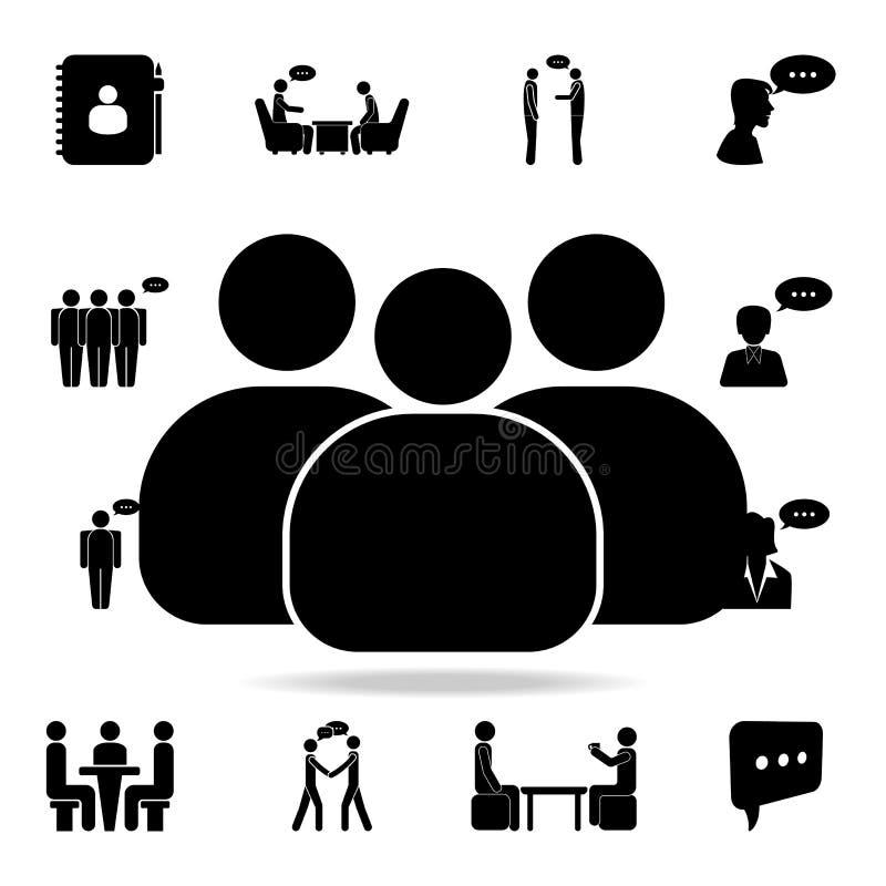 职员象 详细的套交谈象 优质图形设计 其中一个网站的汇集象,网络设计, 向量例证
