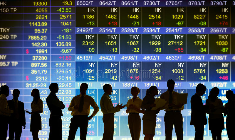 联交所市场贸易的概念 免版税库存照片