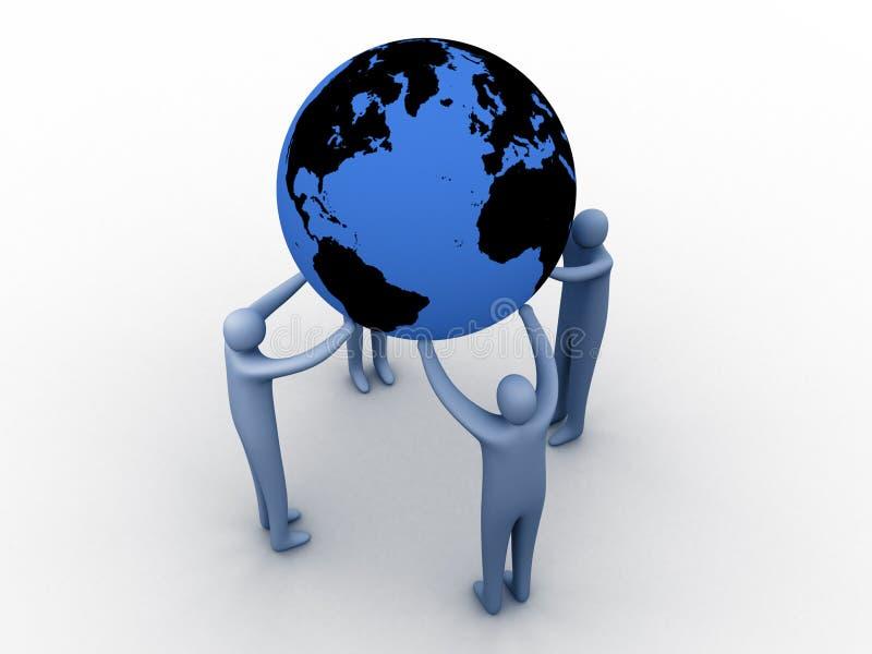 联合世界 皇族释放例证