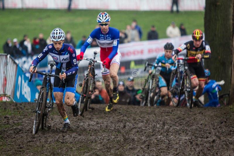 联合利华世界杯Cyclocross - Hoogerheide,荷兰 免版税库存照片