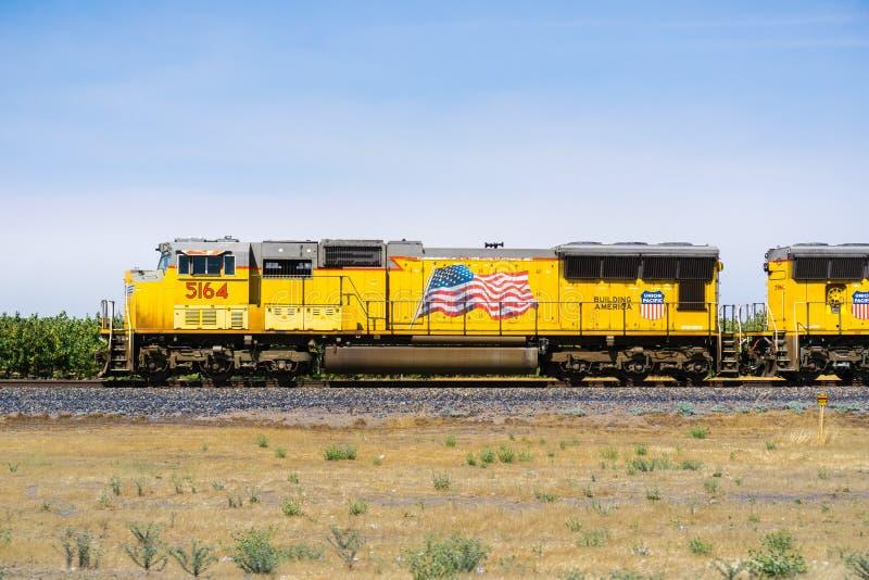联合和平的火车引擎 库存照片
