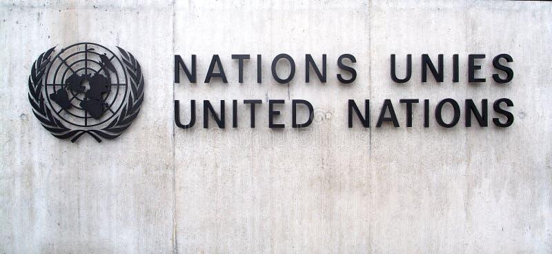 联合国在日内瓦:入口 免版税图库摄影